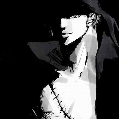 霸气黑白剪影罗罗诺亚·索隆头像图片