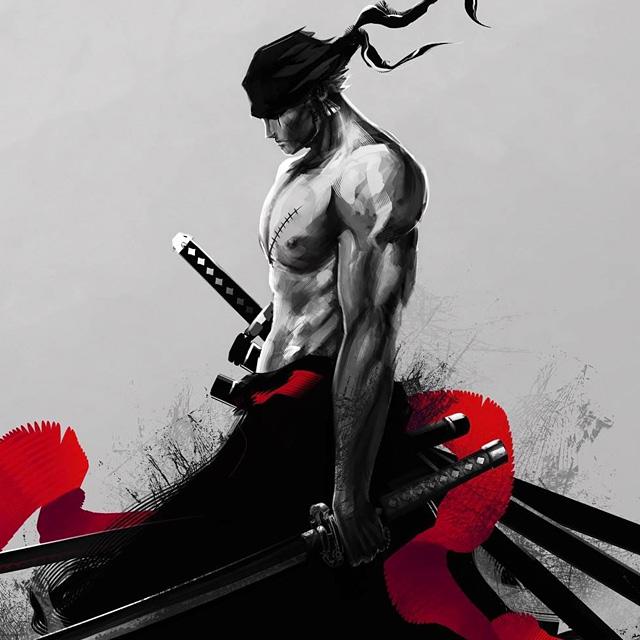 海贼王暗黑系罗罗诺亚·索隆头像图片