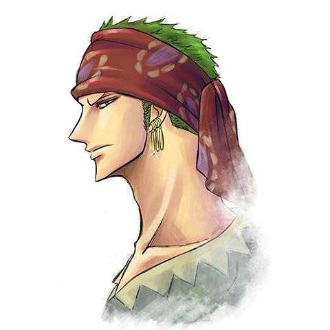 红头巾酷帅的罗罗诺亚·索隆头像图片